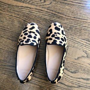 Jcrew crewcuts leopard shoes sz 12 girls